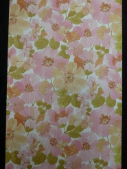 Vintage wallpaper pink flowers