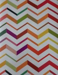 papier peint multicolore