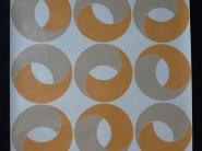 Vintage geometric wallpaper orange grey rings
