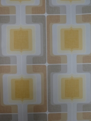 vintage geometric wallpaper grey yellow brown