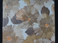 Vintage floral wallpaper with tree trunks