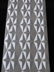 white grey non woven geometric wallpaper