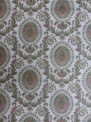 green red medallion wallpaper