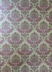 bronze bordeaux medallion wallpaper