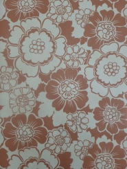 vintage red-brown floral wallpaper