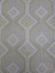 vintage geometric wallaper green beige