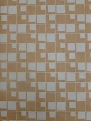 vintage geometric wallaper brown blocks