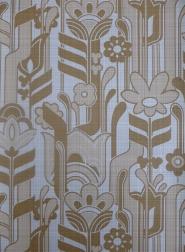 vintage brown floral wallpaper