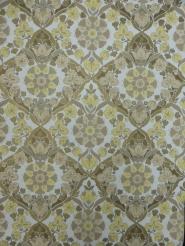 vintage damask wallpaper yellow grey