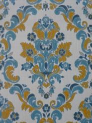 vintage damask wallpaper blue yellow
