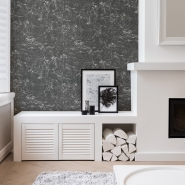Stone imitation wallpaper black-white