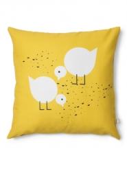 Juli yellow kids pillow with birds