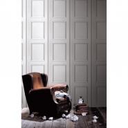 Grey white Haussmann panneling wallpaper
