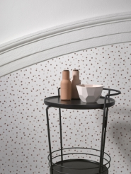 LAVMI wallpaper Atoms mahogany