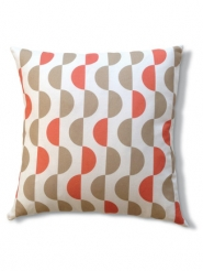 Lentils beige red pillow