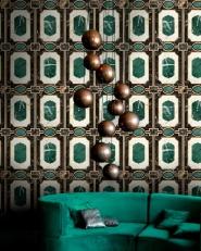 Premium wallpaper Waldorf Emerald