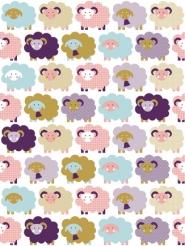 sheep kids wallpaper LAVMI purple pink