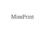 Miss Print wallpaper Guatemala Azure