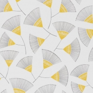 Miss Print wallpaper Persia grey yellow
