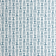 Miss Print wallpaper Hieroglyph blue
