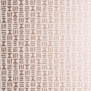Miss Print wallpaper Hieroglyph white-copper
