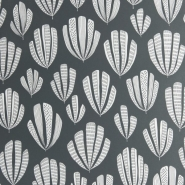 Miss Print wallpaper Hoja dark grey