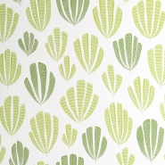Miss Print wallpaper Hoja green