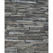 Old stone imitation wallpaper grey