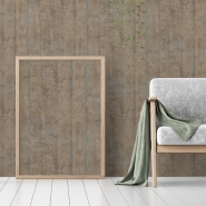 Khaki wood plank imitation wallpaper