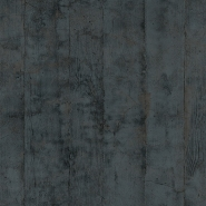 Anthracite-grey wood plank imitation wallpaper