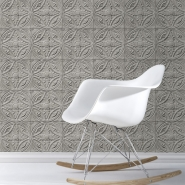 Tin tiles imitation wallpaper grey
