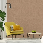 Canvas jute imitation wallpaper brown