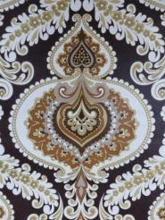 beautiful damask on a dark brown background