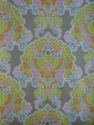 multicolor damask vintage wallpaper
