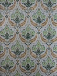 green brown damask vintage wallpaper