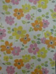 vintage floral wallpaper orange pink yellow