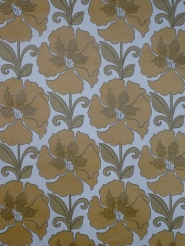 vintage floral wallpaper brown green
