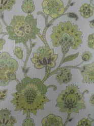vintage floral wallpaper green
