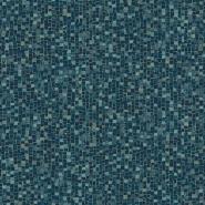 Mosaïc imitation wallpaper blue