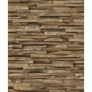 Exotic wood cladding wallpaper