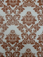 vintage damask wallpaper brown