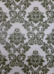 vintage damask wallpaper green