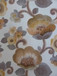grey brown flowers wallpaper
