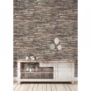 Old stone imitation wallpaper brown