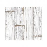 White scrapwood wallpaper