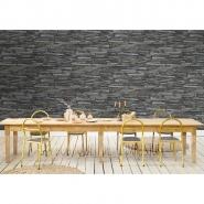 Old stone imitation wallpaper grey
