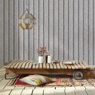 Tricot imitation wallpaper grey