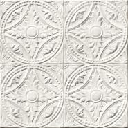 Tin tiles imitation wallpaper white