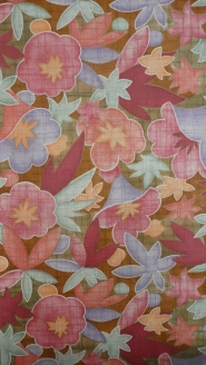 vintage floral wallpaper red pink