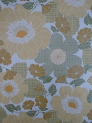 vintage floral wallpaper grey brown